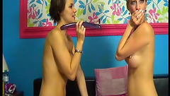 CollegeSluts: ass toying with long dildo