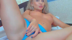 Angel22 plays with her sex toy