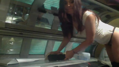 Cherise_xx At Work Cleaning Tanning Bed Naked