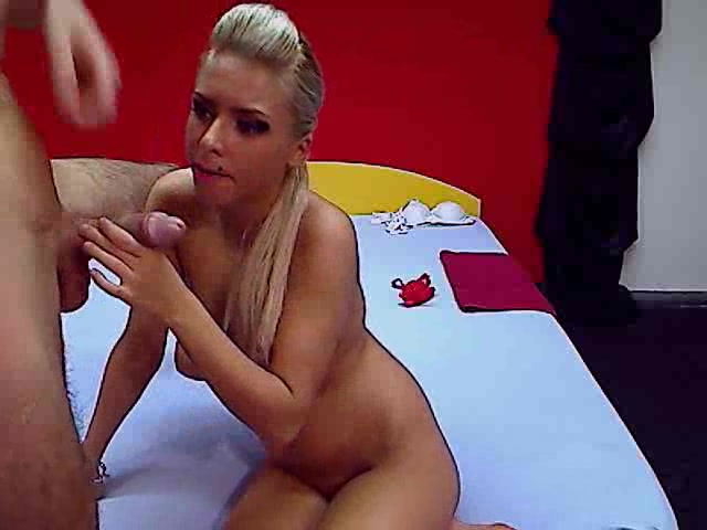 Blonde FunForNight took off her red panties
