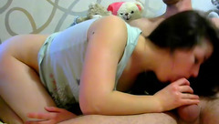 Brunette Sweet_Candy_Lips fucks with her husband