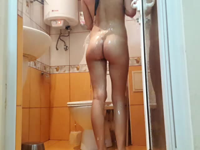 Russian girl Ionni takes a shower