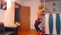 AlesyaPink dancing on a pole