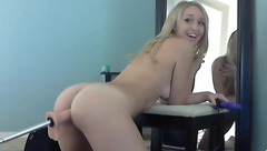 Ginger_Banks play with her ass