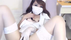 Asian nurse Lady_phephe masturbates on the floor