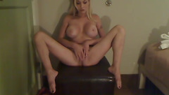 Sexy blonde Belle Baker masturbating in private chat