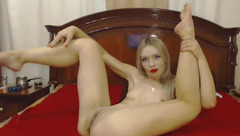Blonde Kungfu_pussy stuck a finger in her ass