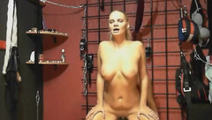 JuicyTrueLove: blonde ride dildo