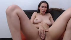 AnitaBlonds massages and fucks her pussy