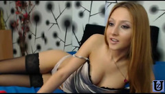 Foxy babe Arielle69 dildoing herself