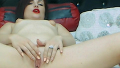 Lovely girl Ashley Darris plays with her pussy