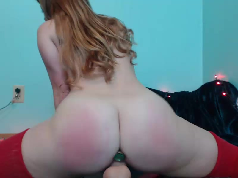 May_marmalade riding on the dildo