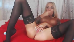 Annarexxxy sucks dildo and fucks herself