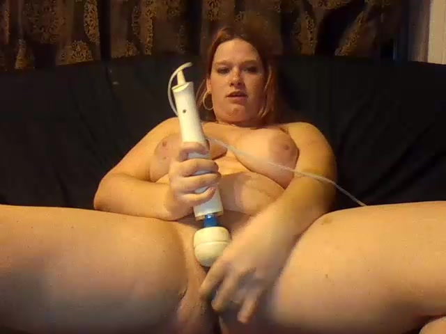 Redhead fat girl Alliah playing with sex toys