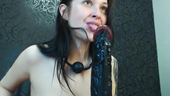 Rachel-burke and black dildo