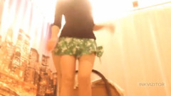 Sexydlrtybi in a green skirt
