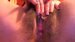 Mature Irida1 showed her hairy cunt