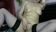 Blonde Irinchi in stockings from sex chat