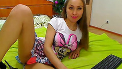 Sweet gal Hotgirl1 showed her pink panties
