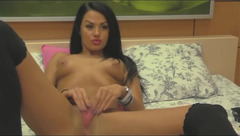 A11AngeBella showed her pink pussy