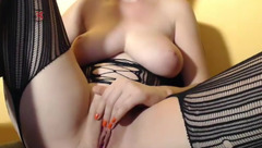 Big tits model Passiongoddes69 caresses her pussy