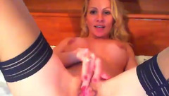 Afroditasexy fingering pussy in stockings