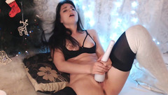 Young brunette Engy_ masturbating with Hitachi