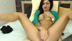 Passionate brunette ChloeSquirts fucking herself
