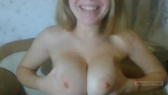 Modest blonde CobraSweet caresses her tits