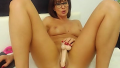 Sweetcorryyy play with rubber penis