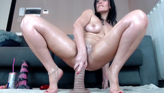 Horny woman Naughtyelle play with sex toys