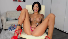 Indiansweety masturbating with Lelo in the pussy