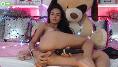 Latin babe Little_cory playing with dildo and vibrator