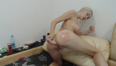 Cute blonde Mika66624 dildoing her ass