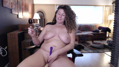 Busty woman Roxyrolla playing with sex toys