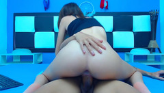 Anastasia_milano - young latina riding on the cock