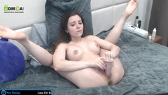 Horny girl Kittycaitlin playing with sex toys