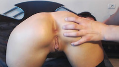 Delishbabe sucks phallus and licks balls
