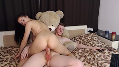 Urnaughtyfoxes - webcam model riding on the dick
