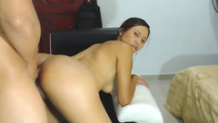 Exciting shaped brunette ANALANDFACE4u is getting fucked hard in front of the webcam