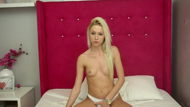 Exciting slender blonde Iovana with tiny tits