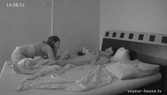 Wonderful Silvia is gently waking Josh's cock and then getting roughly fucked in mouth