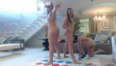 Awesome hot buxom girlfriends are playing twister game