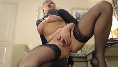 Stocking show from model Sirena99
