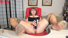 Feet and vibrator show with Sirena99