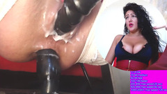 Double penetration show from curly brunette Sweetgirl25