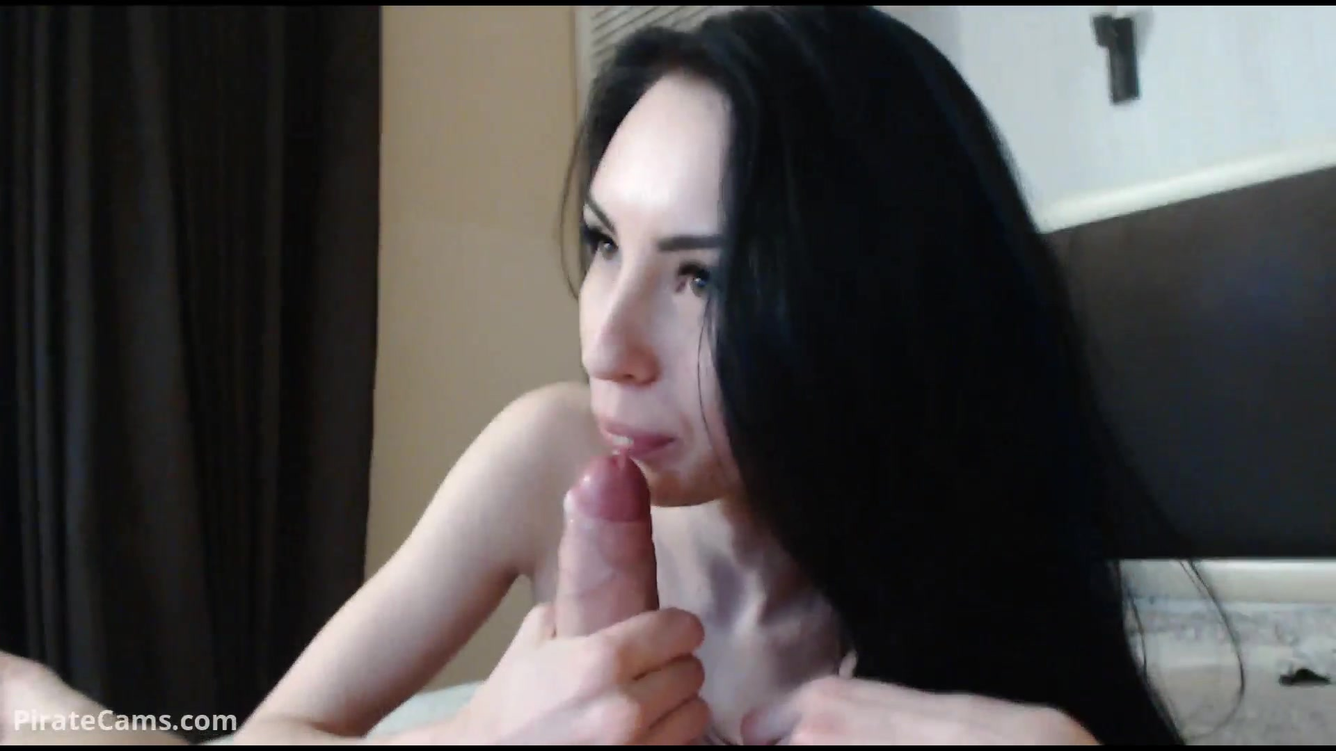 Exciting slender skinny young brunette Sid_and_nancy is doing tight blowjob before getting fucked hard