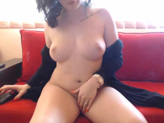 Brunette luxurious girl Bellajessy is fondling her awesome boobs and enjoying porn live chat