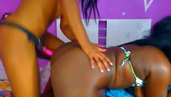 Fatty big swinging tits black girl DuoBestLesbians is being fucked by lesbian girlfriend with strapon