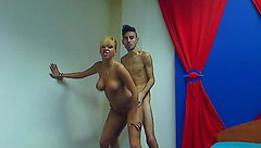 Slutty blonde FunForNight is hotly posing nude and fucking hard with boyfriend